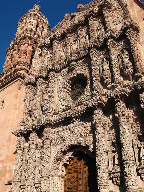 When I was a child, I lived in Zacatecas Mexico. This is a picture of the famed Cathedral in the downtown area.