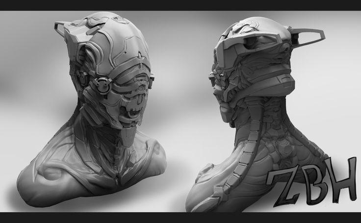 Warframe sculpt by Zbrush-Hero.deviantart.com on @DeviantArt