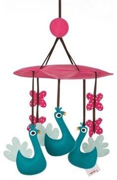 Peacock Mobile contemporary-baby-mobiles