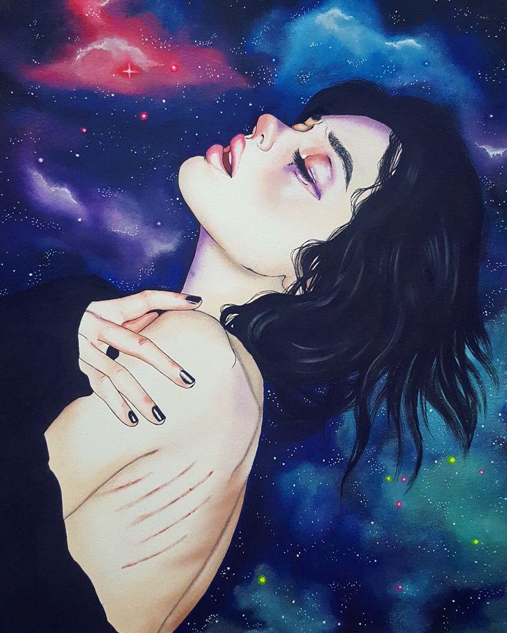 Картинки в космосе девушка