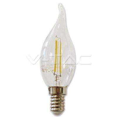 Lampadina LED filamento Spirale Candela Fiamma 2W E14 Bianco naturale  SKU: 4320 | VT: VT-1897