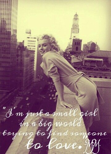 Marilyn Monroe quote <3