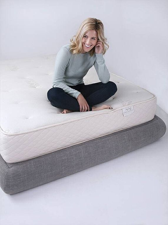 LUNA – platform bed frame for Queen/King/Full/Twin beds. Innovative, super cushioned, in an exclusive crescent shape.