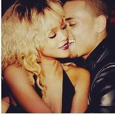 rihanna and chris brown. don't even care. They are both crazies. Love it.
