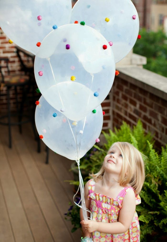 DIY Pom Pom Balloons: perfect for any adorable party #diy #craft #party