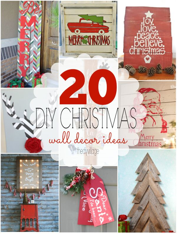 20 Christmas wall decor ideas that any DIYer can do!
