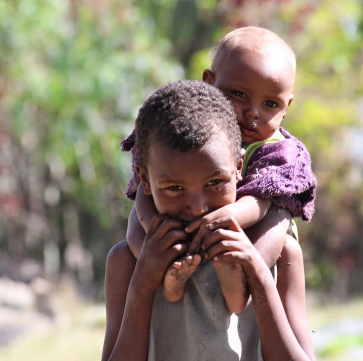 The VanBinsbergens: Returning to Addis  These beautiful brothers...siblings caring for siblings. (Ethiopia, 2014)
