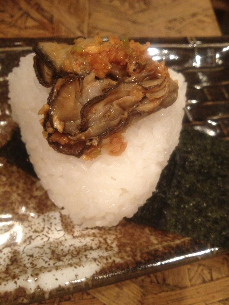 牡蠣キムチおにぎり