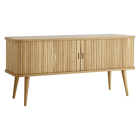 Buy John Lewis Grayson Media Unit for the TV.  There is a matching sideboard Online at johnlewis.com