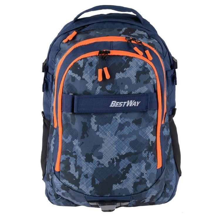 Bestway Schulrucksack Mädchen Jungs dunkelblau orange Schultasche Daypack   Büro & Schreibwaren, Schulbedarf, Ranzen, Taschen & Rucksäcke   eBay!