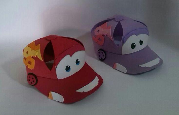 Como hacer gorras de foami de cars - Imagui