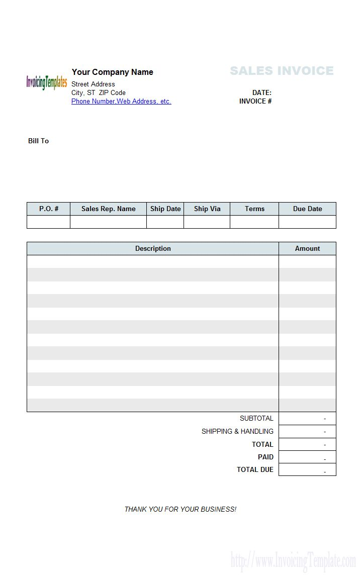 Company Sales Payment Receipt Template Invoice Template Word Sales Letter Lettering