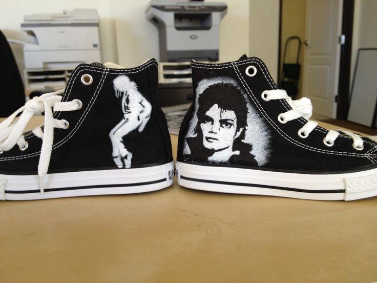 Custom Michael Jackson CONVERSE. $120.00, via Etsy.