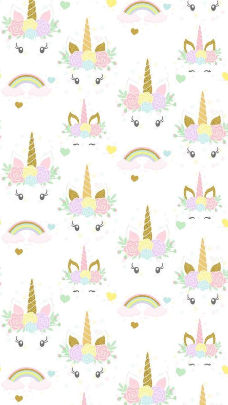 Unicorns and Rainbows iPhone wallpaper