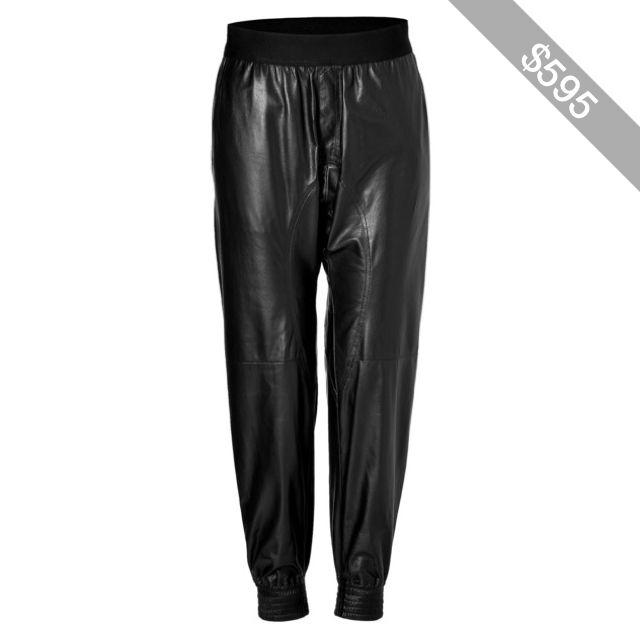 Neil Barrett Leather Jogging Pants