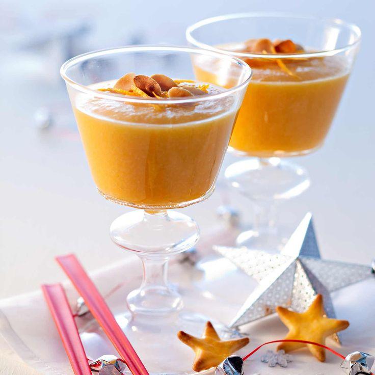 Découvrez la recette du smoothie champ orange pêches amandes