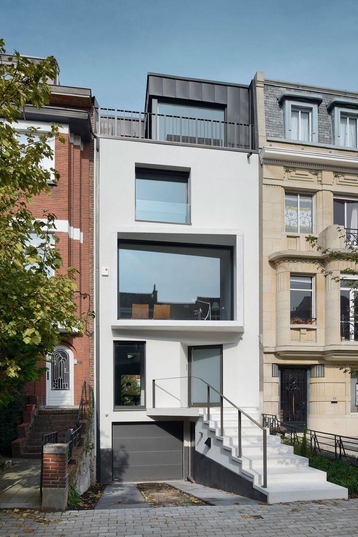 Urban Platform Designs a Vertical Home in Brussels, Belgium - Interior Designs