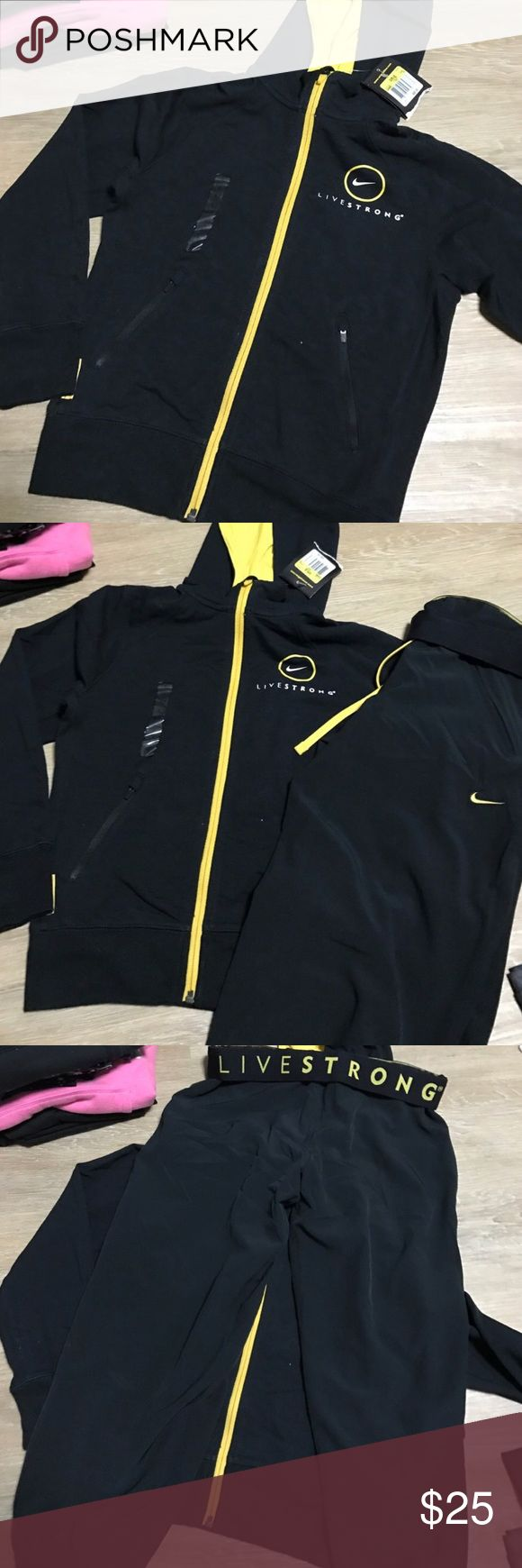 Nike livestrong outfit hoodie and Capri pants New Nike Pants Track Pants & Joggers