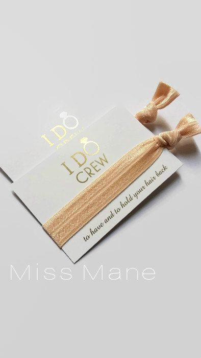 I Do Crew / Hair Tie Favour / Bridesmaid by MissManeAccessories