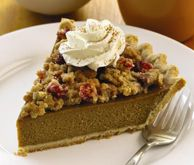 PUMPKIN PIE WITH CRANBERRY PECAN TOPPING. Take our great traditional ...