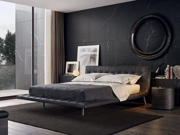 ONDA Double bed by Poliform design Paolo Piva
