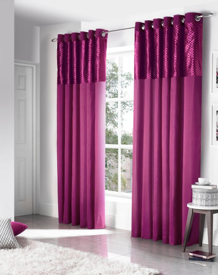 Savoy Purple Eyelet Curtains From Net Curtains Direct