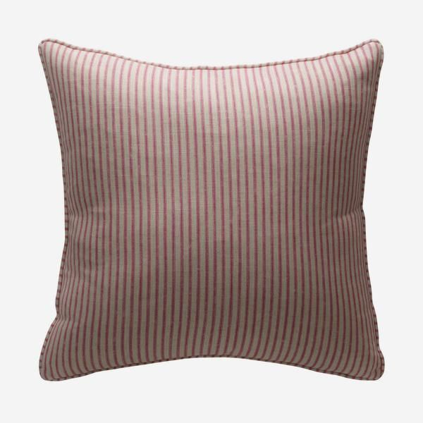 Savannah Paradise is a stylish and versatile ticking stripe cushion in hot pink. Handmade in the UK and filled with sustainably sourced duck feather and down. Pair with bold kilim, animal or ikat cushions to create a sophisticated yet relaxed everyday look.