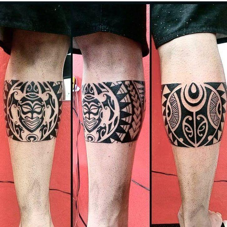 Maori Leg Tattoo by Franz Maori                                                                                                                                                                                 Mais