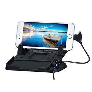 thanly Support voiture universel 2en 1de charge Pad–adsorption magnétique support de tapis antidérapant en silicone pour téléphone…