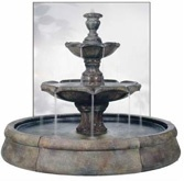 outdoor fountain with pool