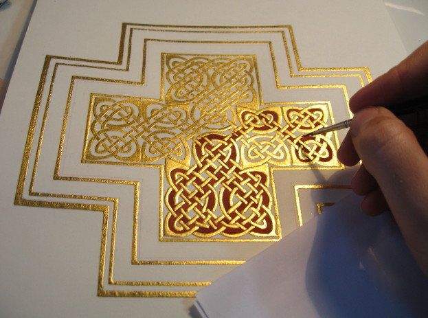 Christabel Anderson is a British Iconographer and Manuscript Illuminator to whom was recently attributed the prestigious QEST (Queen Elizabeth Scholarship Trust) Craft award.
