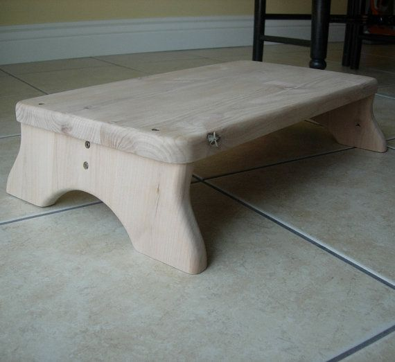 Large Platform Step Stool Unfinished Wood Alder by LaffyDaffy on Etsy, $99.99