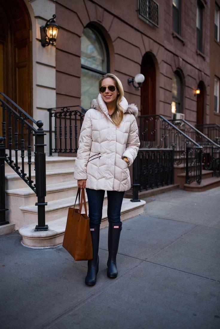 Navy Hunter Rain Boots + Winter Coat Sale - Katie's Bliss