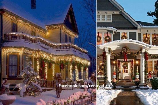 Cele mai frumoase case impodobite de Craciun