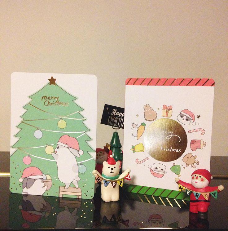 收到都會開心的聖誕卡 因為聖誕節還沒到的關係有些店家會等到月底過後才陸續進貨喔喜歡的朋友別衝太快XD…