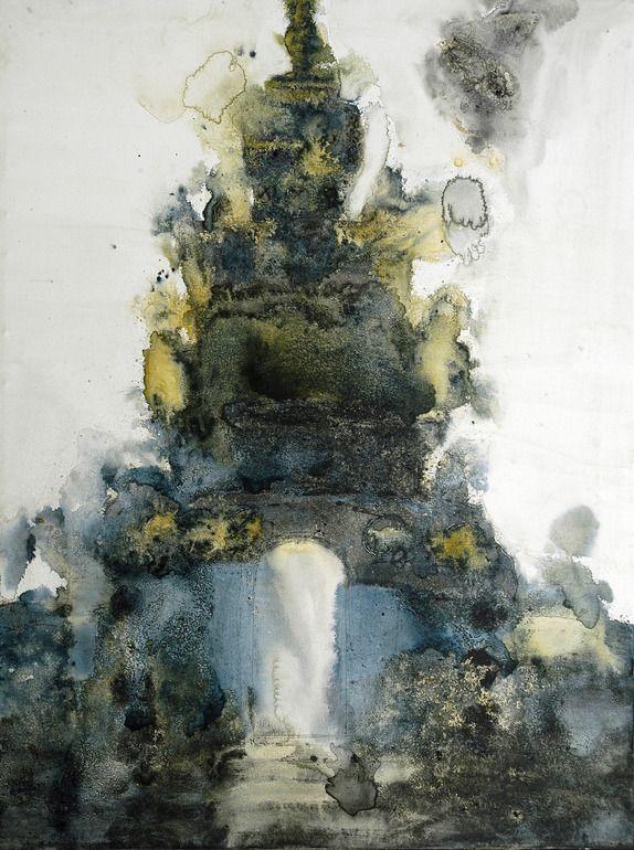 """鹏飞 张; Watercolor, 2008, Painting """"Internal Landscape"""""""