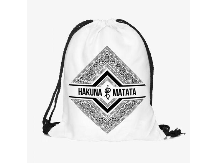 Vak na záda Gymsack s potiskem - Hakuna Bandana