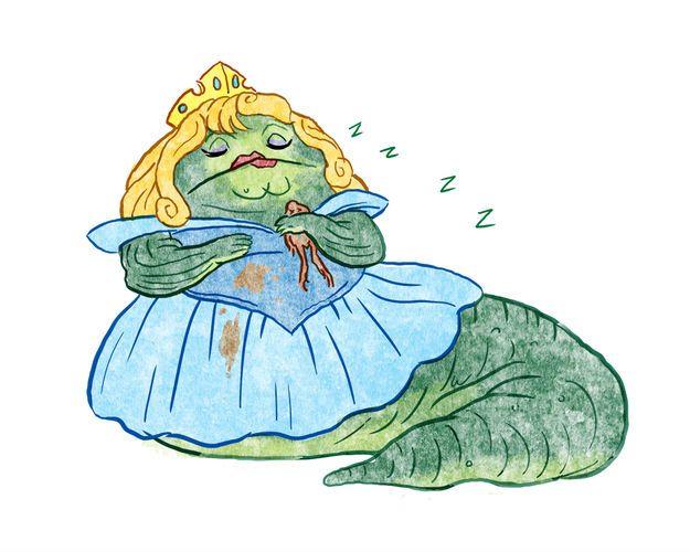 Aurora ('La Bella Durmiente') es Jabba el Hutt