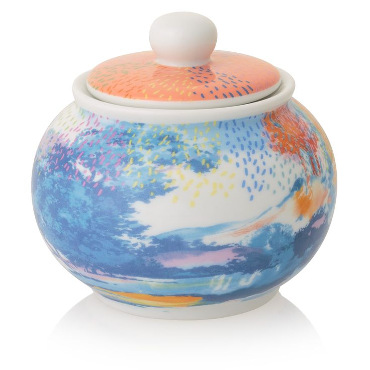 Looking for a unique secret Santa idea? Our Beatrix Sugar Bowl is inspired by vintage floral and mark making paintings.