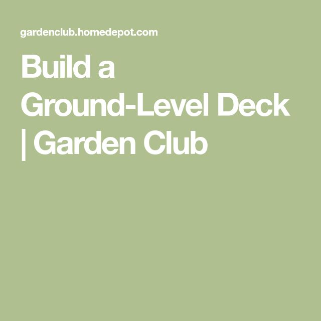 how to build a ground level deck step by step