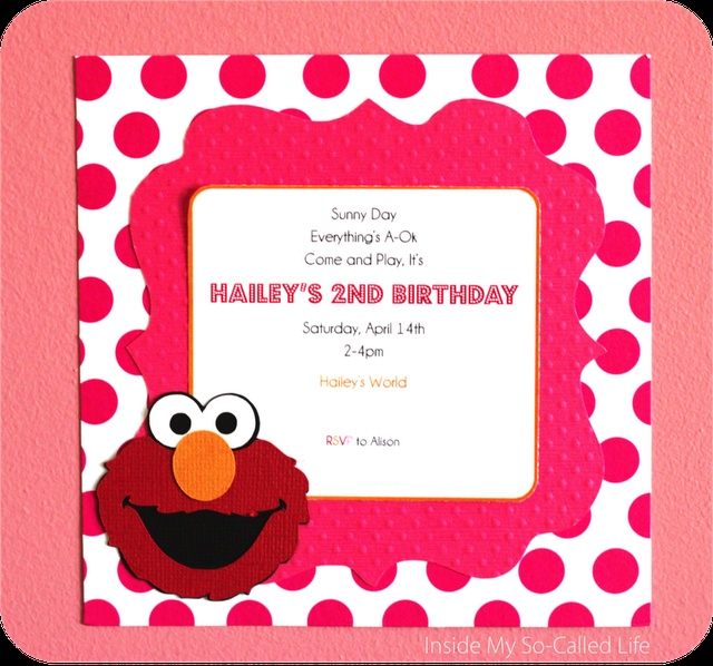 38 best images about PARTY Sesame Street – Elmo Birthday Invitations Template