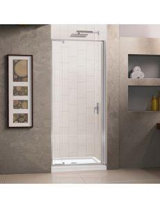 Душевая дверь распашная RGW PA-02 113-130х185 см, стекло прозрачное, профиль хром