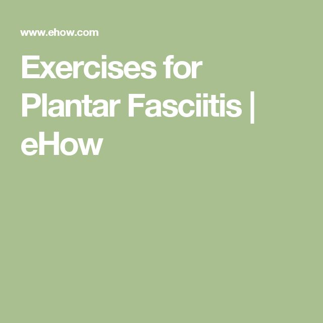 how to train after plantar fasciitis
