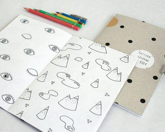 Coloring book / handmade / Carnet coloriage / fait-main / patterns / motifs Hirundo