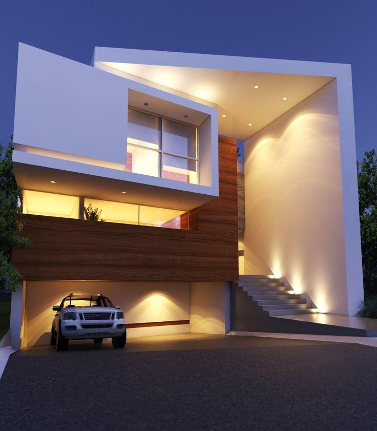Casa del Pilar Residencial por Creato Arquitectos. #houses #casas #fachadas