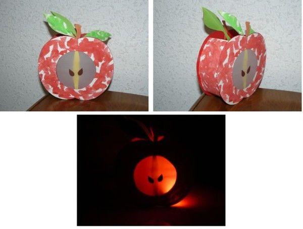 Lanterne fruit de saison : la pomme