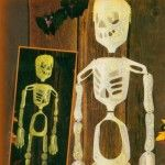 Milk Jug Skeleton Recycled Halloween Craft