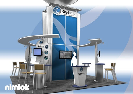 Nimlok has 40 years of experience designing trade show booths and exhibits. For Osisoft we built a custom technology exhibit to meet their marketing n…