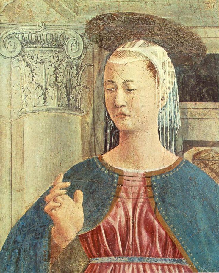 Annunciation (detail), 1452 - 1458 - Piero della Francesca ...