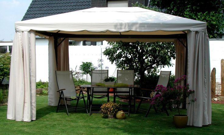 Leco Sahara Pavillon 3x4m Alu anthrazit/Bezug Natur - Gartenmöbel von Garten & Freizeit